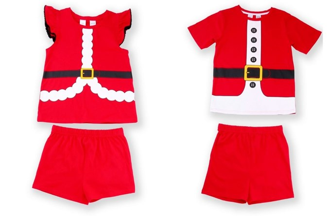 Kids matching Santa pj's. Image: Big W