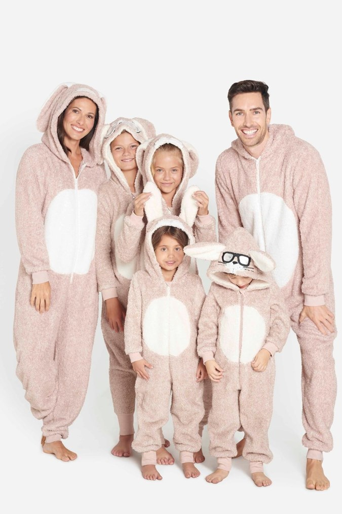 Matching Easter Bunny onesies for the whole family!