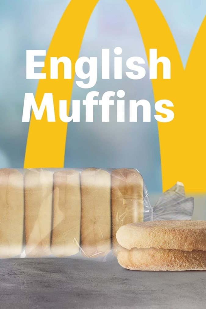 English muffins available at Maccas. Image: McDonald's.