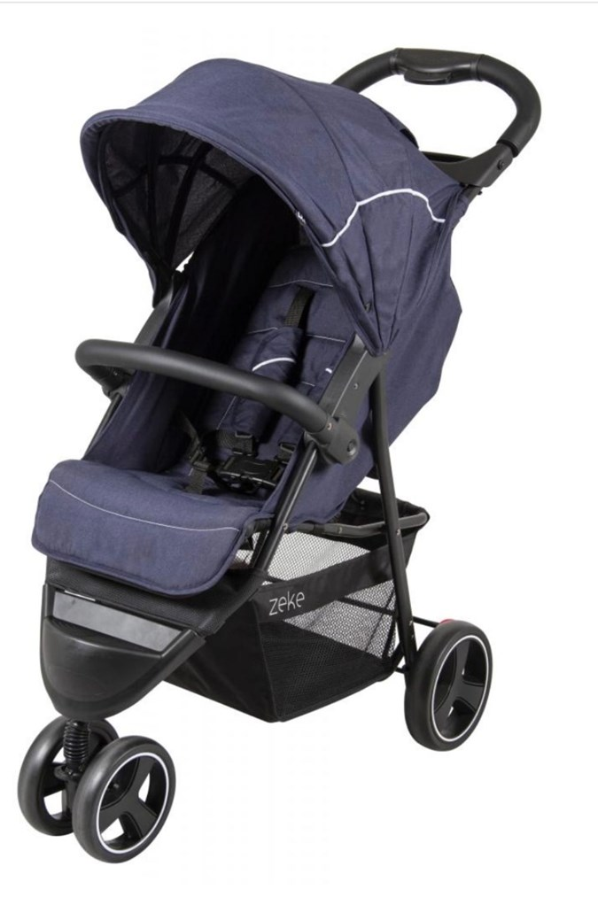 The Childcare Zeke Stroller Navy. Image: ACCC