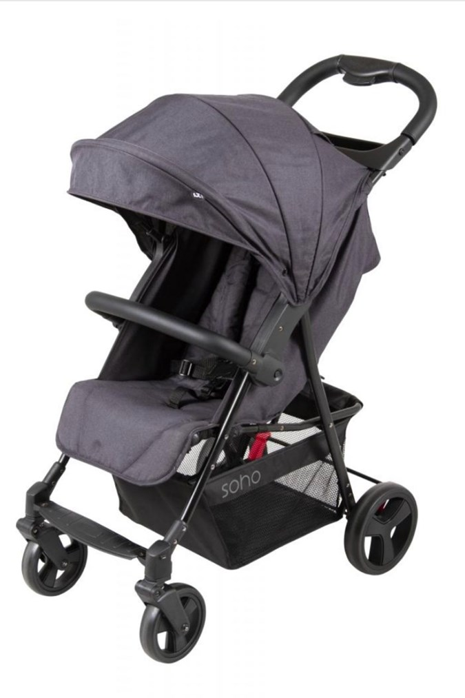 The Childcare Soho Stroller Black. Image: ACCC