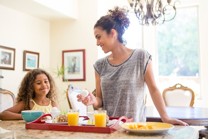 """One thing parents can do is to serve a meal that everyone in the family can enjoy."" (Image: Getty)"